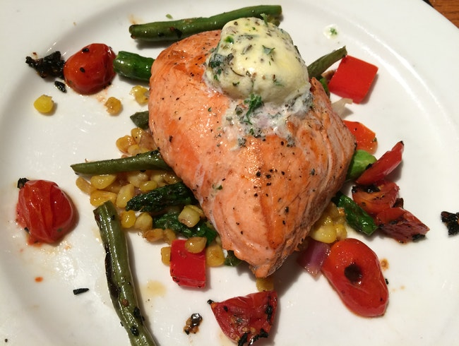 Fresh King Salmon at Anchorage's Glacier Brewhouse