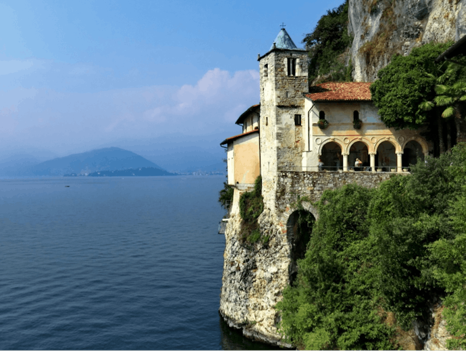 Visit the Cliff-Face Monastery of Lake Maggiore Leggiuno  Italy