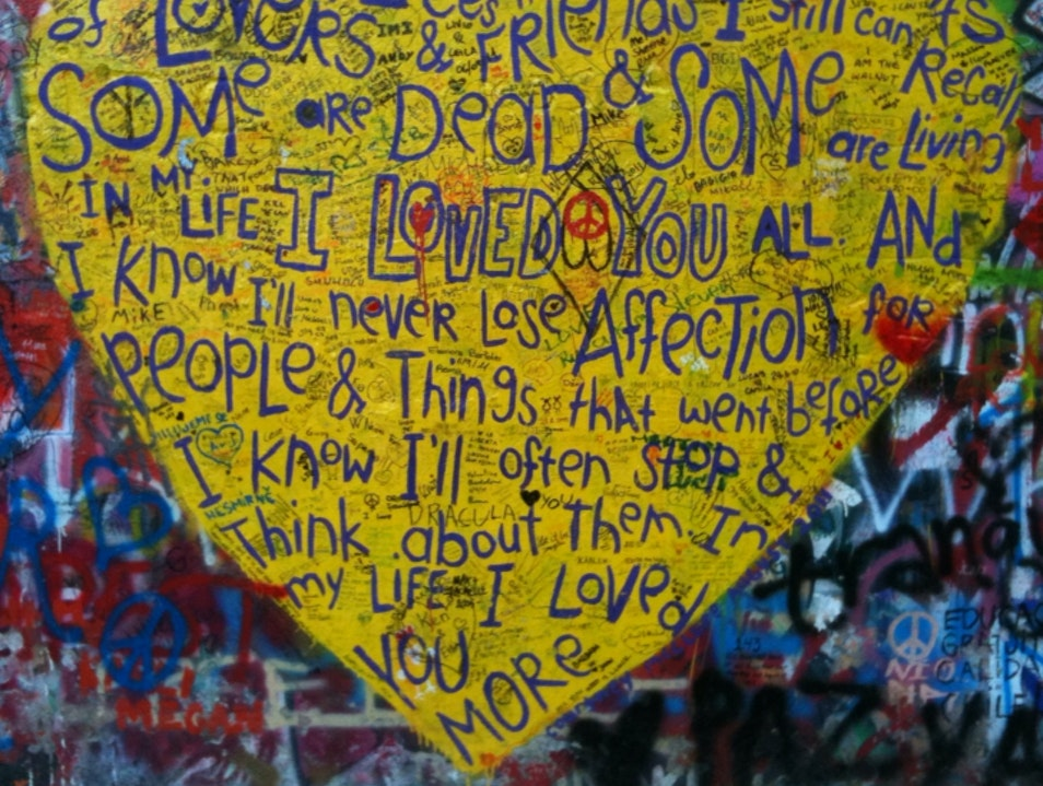 John Lennon Wall-Prague Prague  Czech Republic