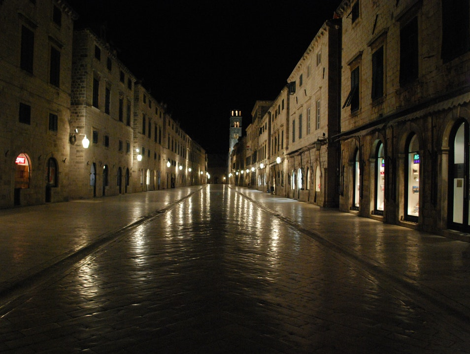 Placa In The Wee Hours Of The Morning Dubrovnik  Croatia