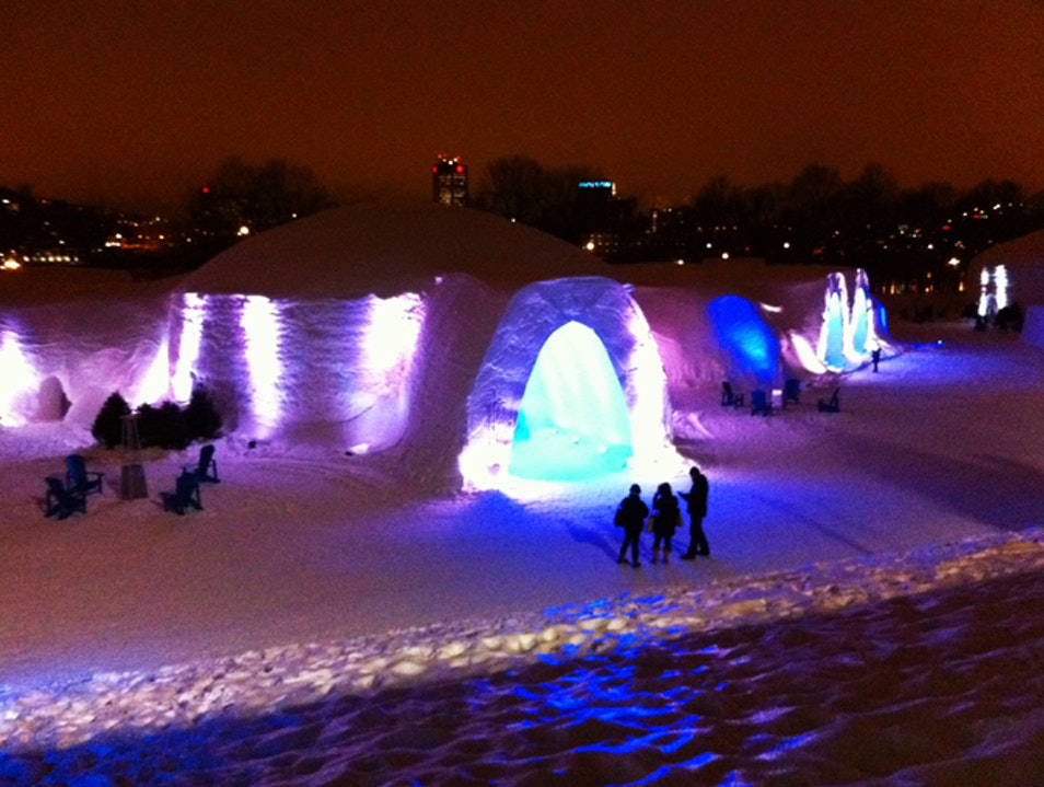 The incredible Snow Village inMontreal  Montreal  Canada