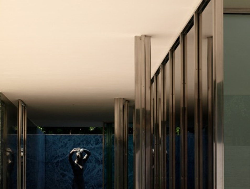 The Barcelona Pavilion by Mies van der Rohe Barcelona  Spain