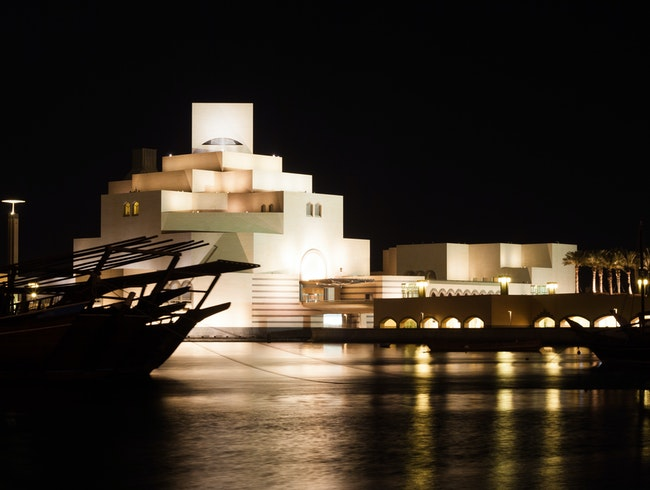 Museum and Dhow at Night