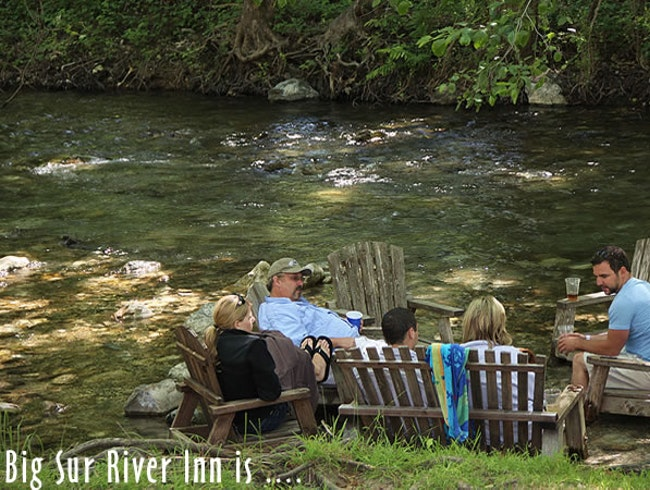 Big Sur River Inn lets you dip your toes into nature