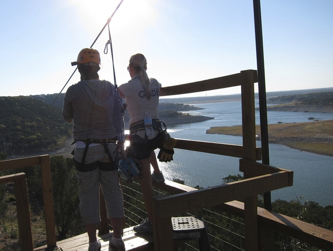 Zip Around High Over Lake Travis