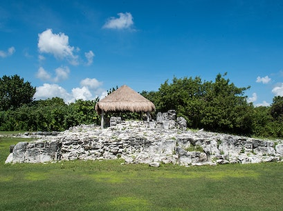 El Rey Archaeological Zone Cancun  Mexico