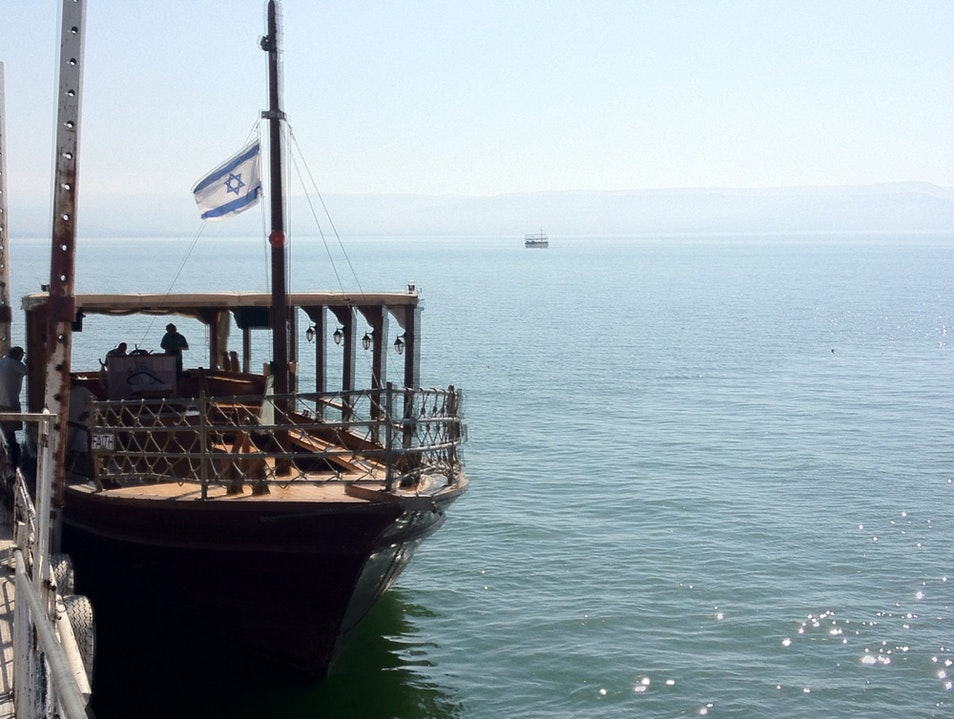 Boat Ride On The Sea Of Galilee  Migdal  Israel