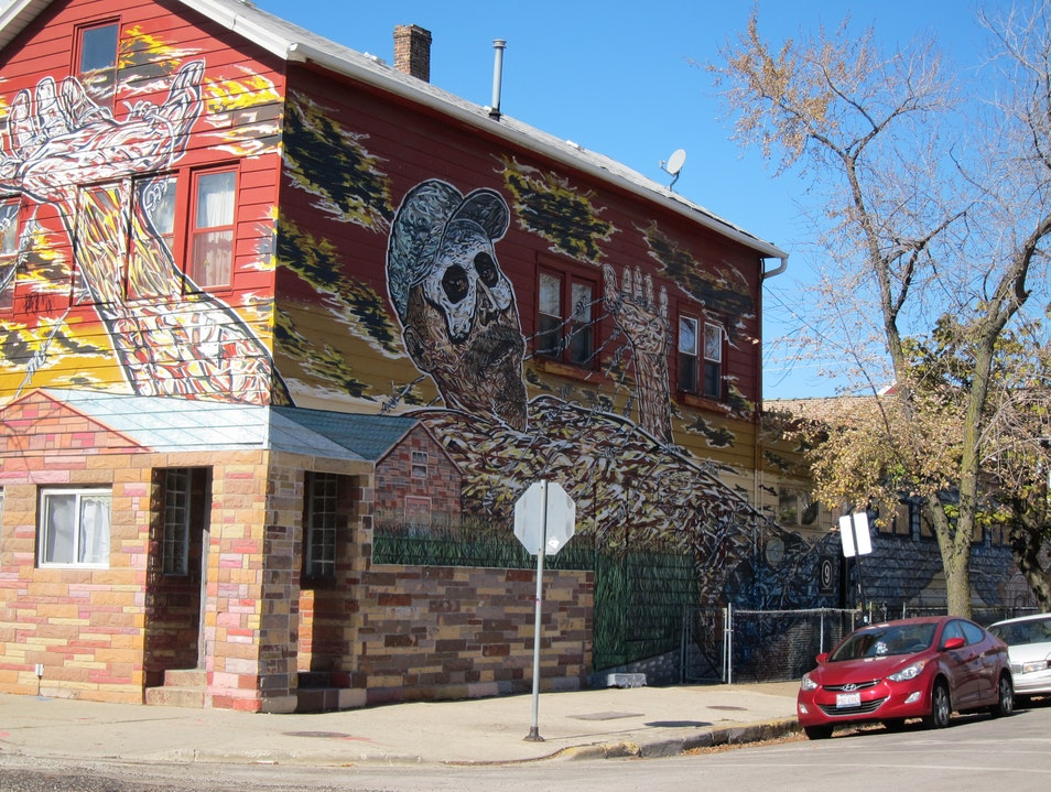 Pilsen Neighborhood Mural Walk Chicago Illinois United States