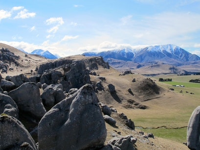 Castle Hill on Arthur's Pass Castle Hill  New Zealand