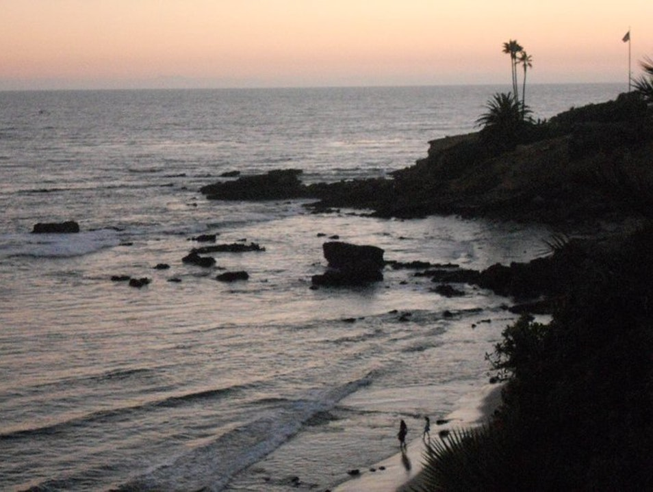 Go at sunset Laguna Beach California United States