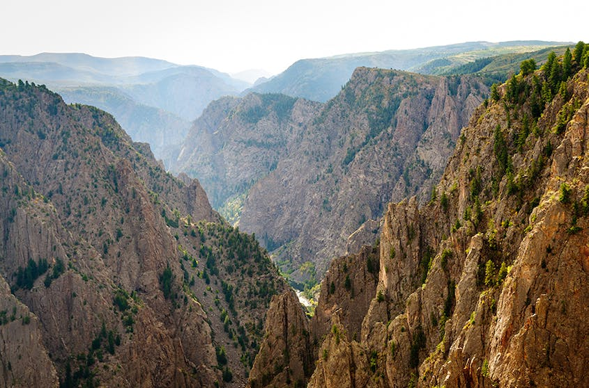 Black Canyon of the Gunnison is home to the highest cliff in Colorado, the Painted Wall at 2,250 feet.
