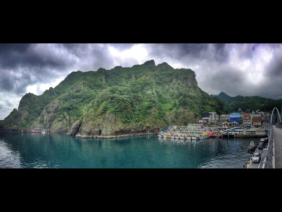Entering a pirate's cove: Ulleungdo island's Dodong harbor Ulleung Gun  South Korea