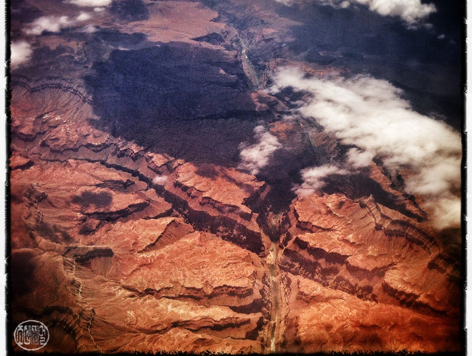 When Flying Over the Grand Canyon... North Rim Arizona United States