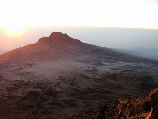 Dawn on the crater rim