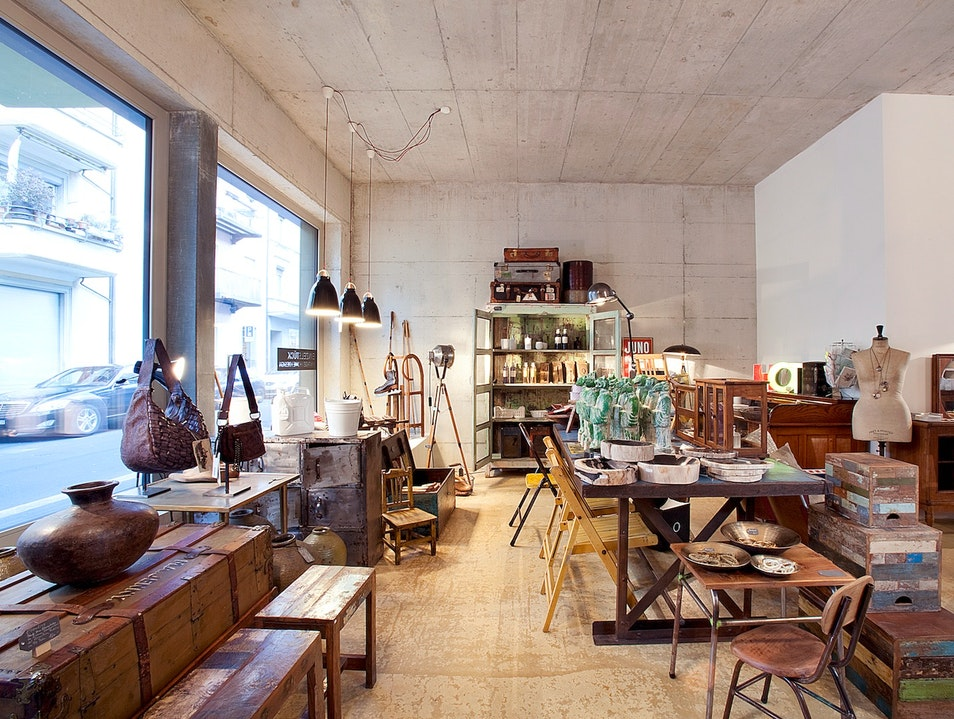 A Design and Curio Shop Near the Sihl River Zurich  Switzerland