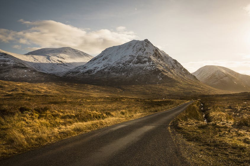 Drive through Glen Etive and follow the journey taken by James Bond
