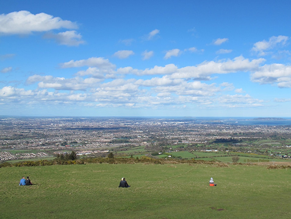 Enjoying panoramic views of Dublin city and bay Dublin  Ireland