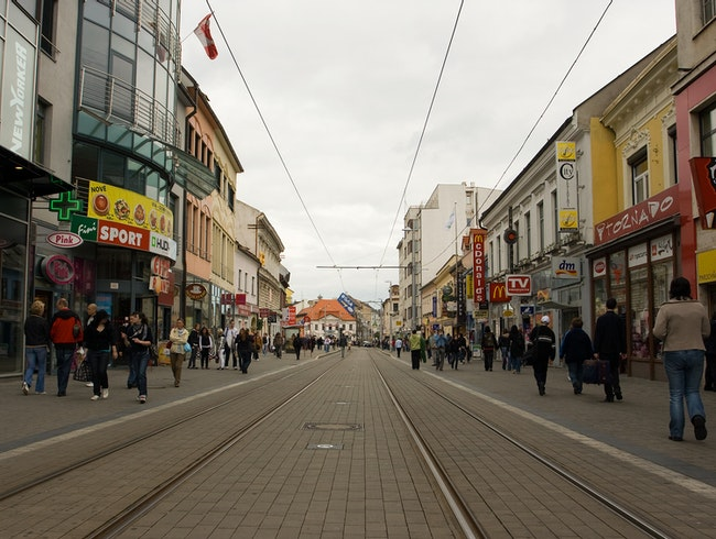 Walking the streets of Bratislava