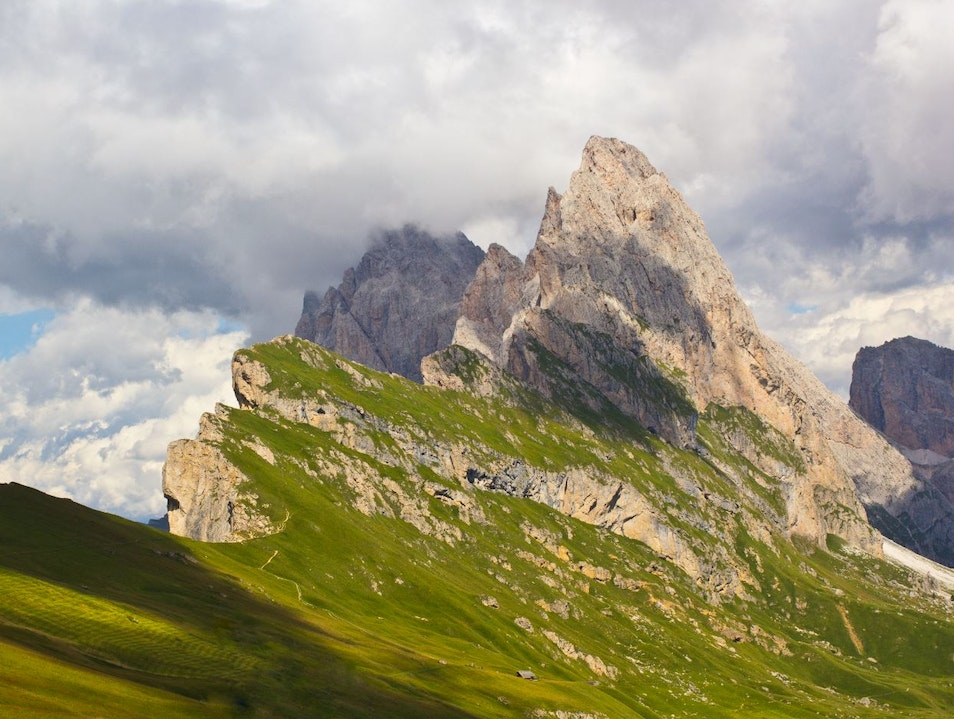 Hiking the Dolomites of the Italian Alps Ortisei  Italy