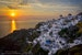 Sunset over Oia Oia  Greece