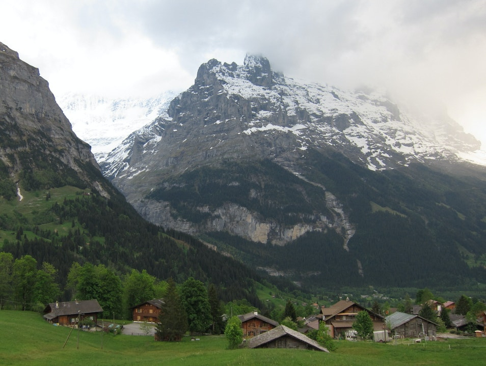 Peaceful village in Grindelwald, Switzerland Grindelwald  Switzerland