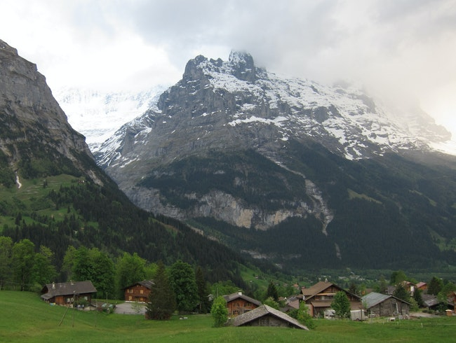 Peaceful village in Grindelwald, Switzerland