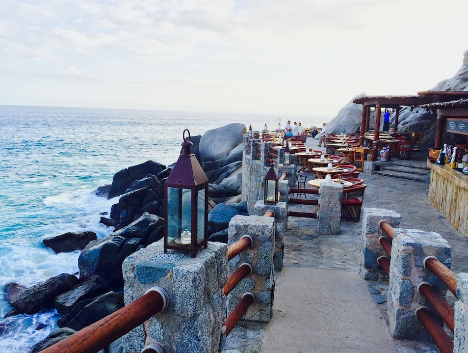 Dine next to crashing waves at El Farrallon Cabo San Lucas  Mexico