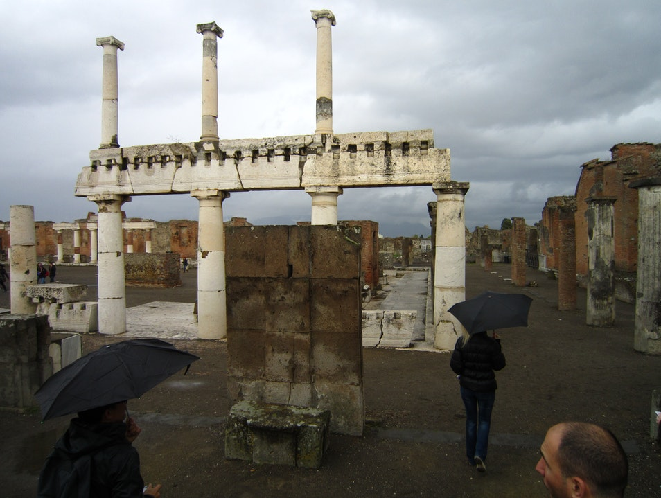 Ruins in the Rain Pompei  Italy