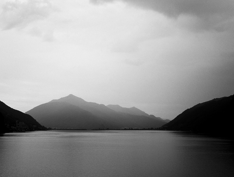 Peaceful Lake Lugano Paradiso  Switzerland