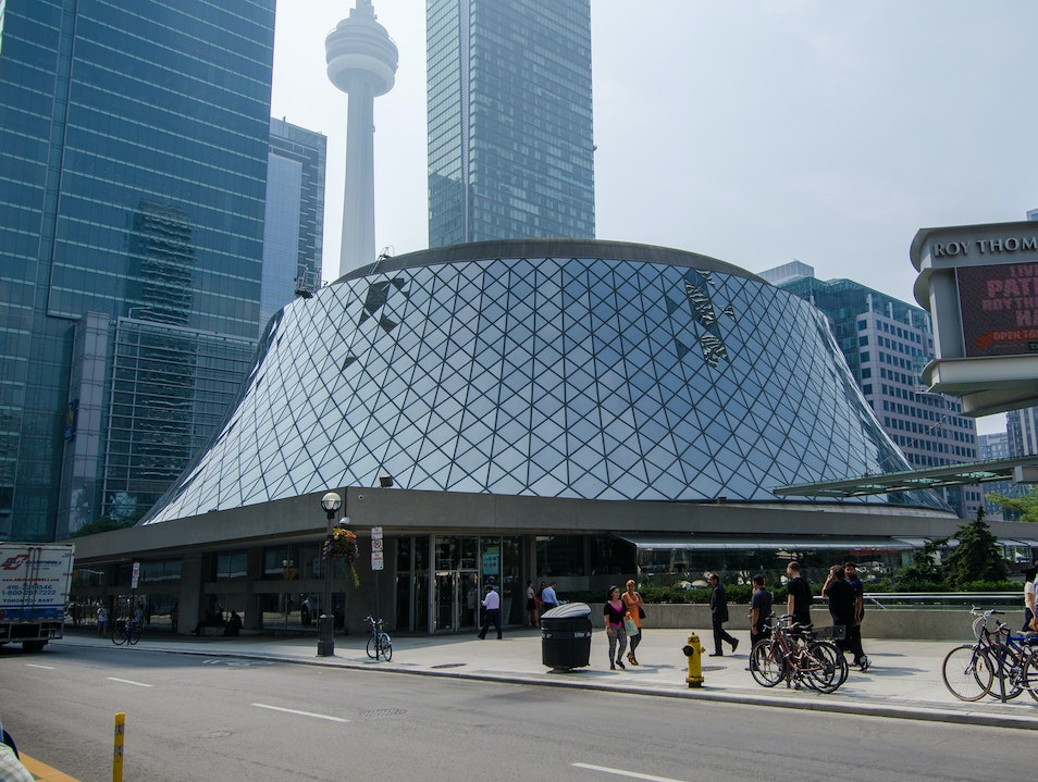 Music and Culture in a Glass Sphere Building at Roy Thomson Hall Toronto  Canada