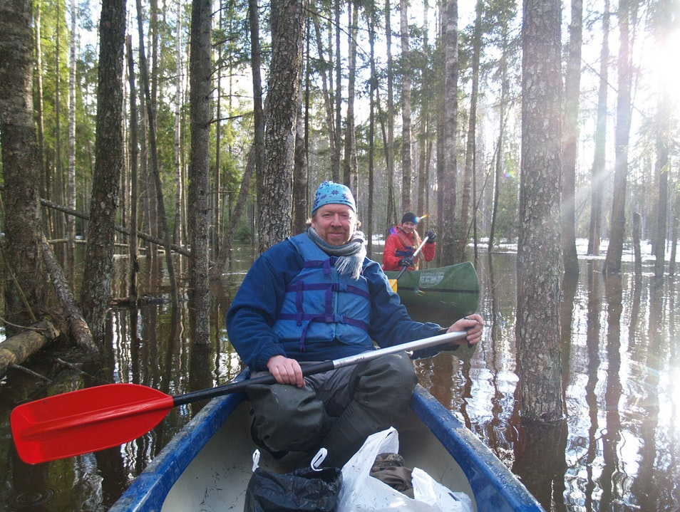 Canoeing in the Flooded Forests, Soomaa National Park, Estonia Soomaa National Park  Estonia