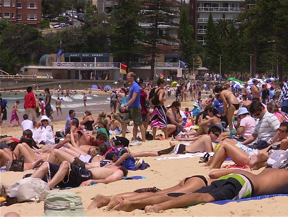 New Year's Day at the Beach Bondi Beach  Australia