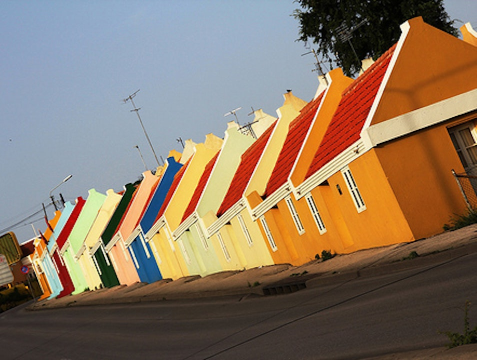 Colorful Sloping Homes Willemstad  Curaçao