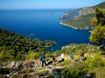 Lycian Way Trail Kayaköy Köyü  Turkey