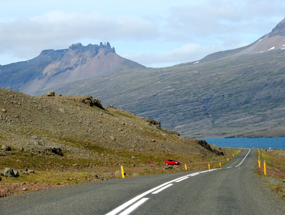 Driving Through Eastern Fjords in Iceland