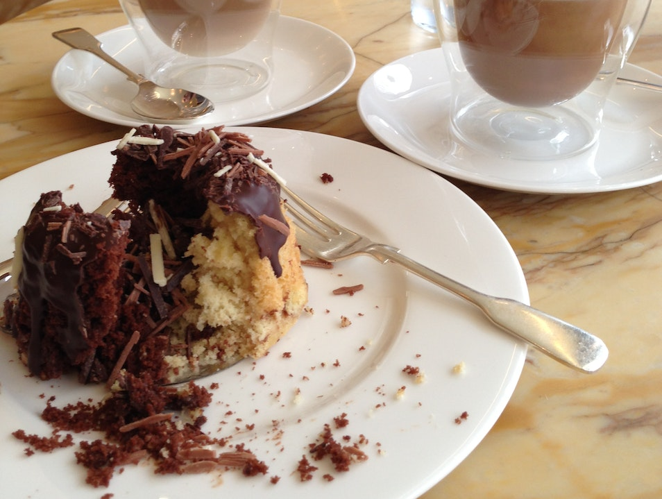 "Lattes & Cake at ""The Café"" at Café Royal London  United Kingdom"