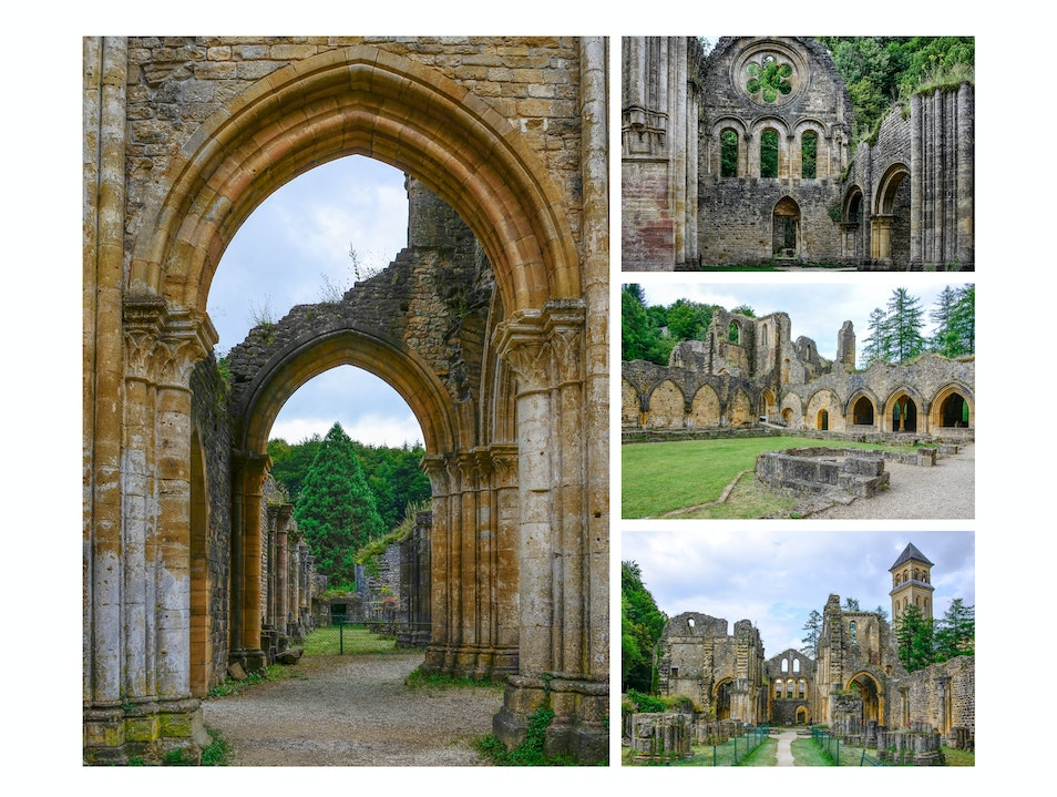 Ruins of the former Orval Abbey Florenville  Belgium
