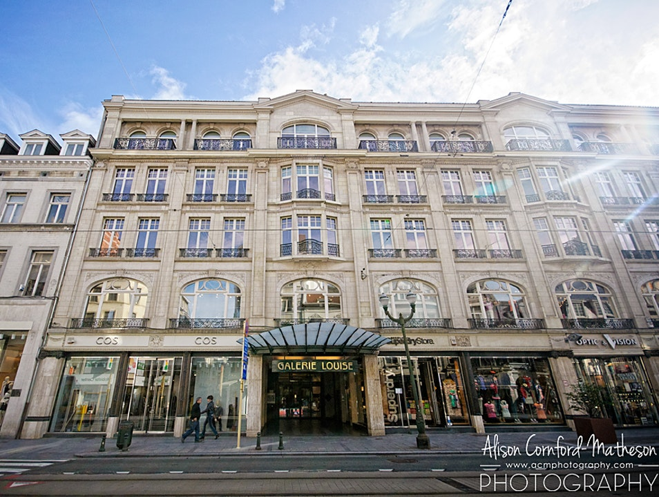 Luxury Shopping on Brussels Avenue Louise Brussels  Belgium