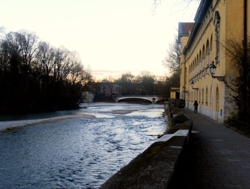 Along the Isar River Munich  Germany