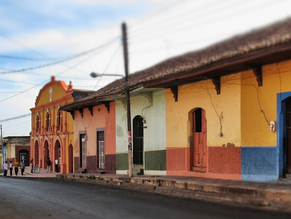 colors on the way to the theater León  Nicaragua