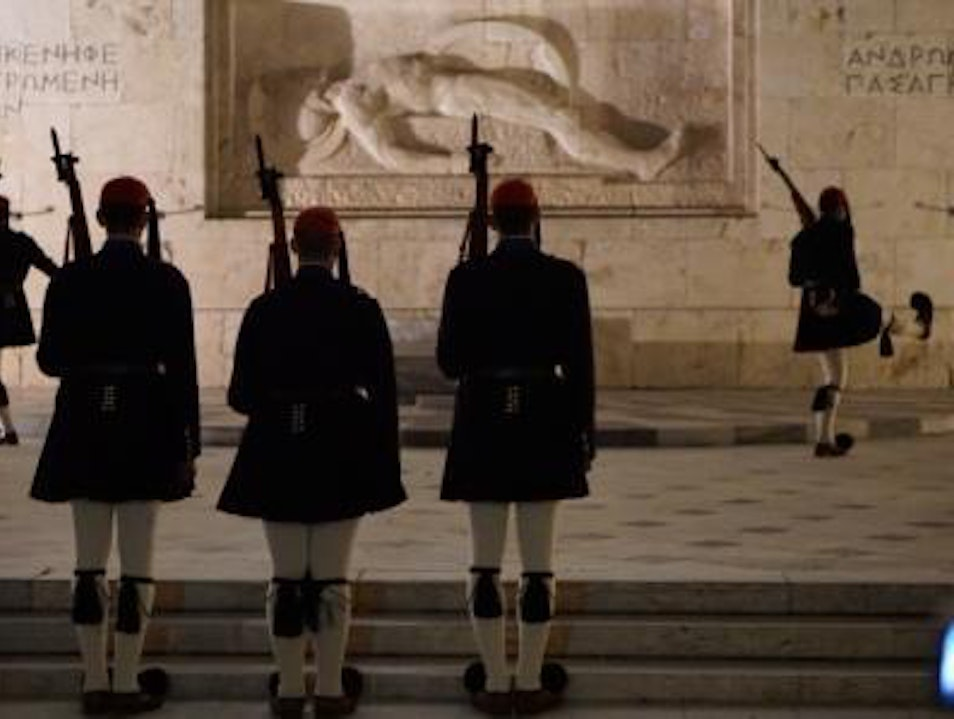 Watch the change of the guards Athens  Greece