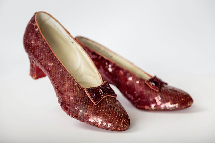 """The Academy Museum's galleries will showcase artifacts such as the pair of ruby slippers designed by Adrian Adolph Greenburg for the 1939 film """"The Wizard of Oz."""""""