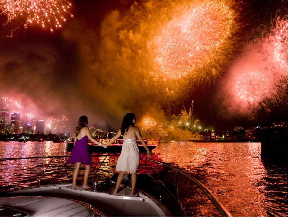 New Year's Eve on Sydney Harbour    Australia