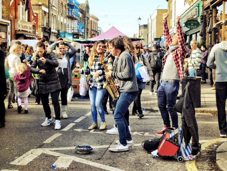Letting Loose in Portobello Road London  United Kingdom