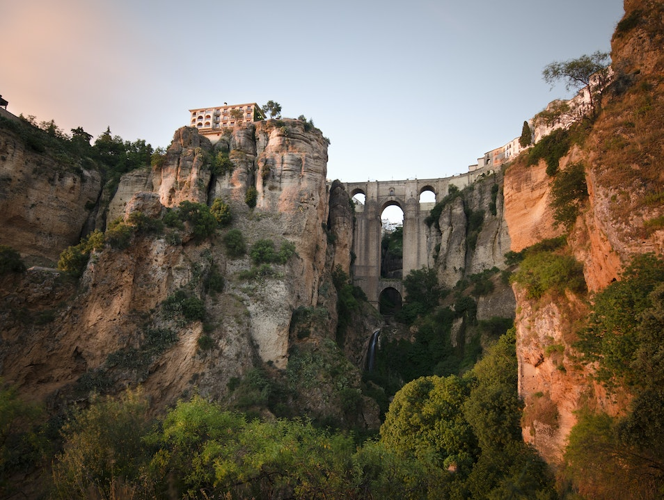 Braving Heights on Ronda's Ancient Bridge  Ronda  Spain