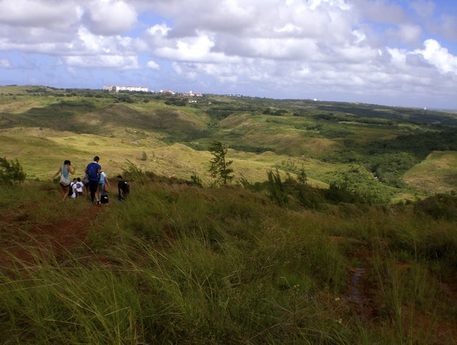Hiking with the Guam Boonie Stompers