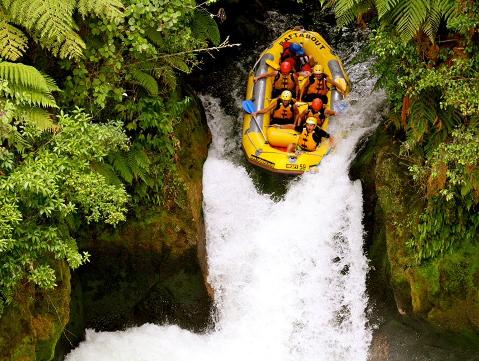 White-water Rafting Okere Falls  New Zealand