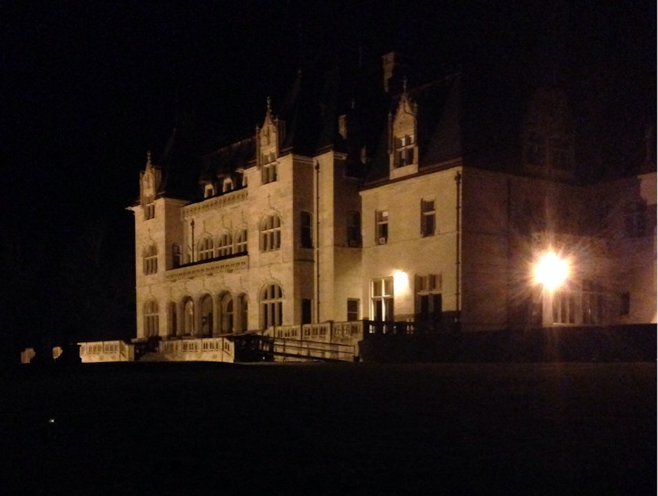 Cliff Walk At Night - The Breakers