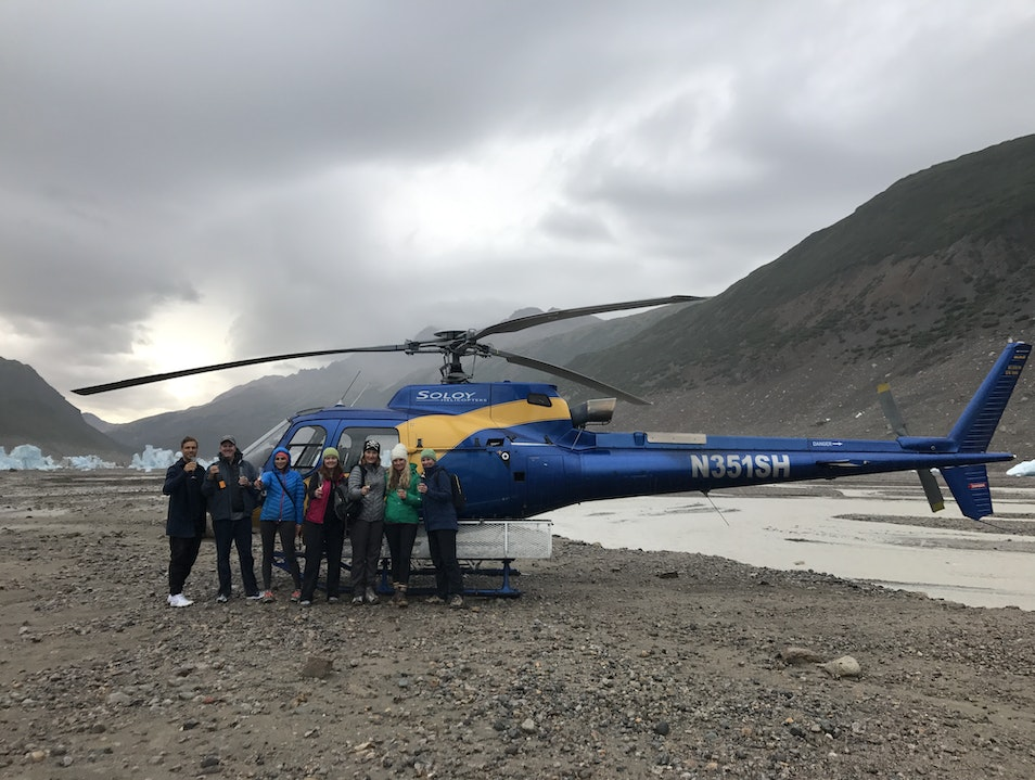 Glacial hikes and champagne toasts