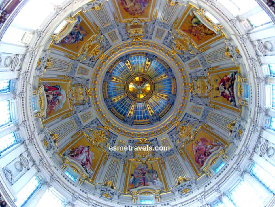Berliner Dom Cathedral Ceiling Berlin  Germany